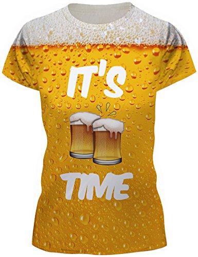 TDOLAH Damen T-Shirt Print Shirt Tee Paar Kostüm Fasching Weltraum Thema (XL / XXL, (Bier Halloween Kostüme Paar)
