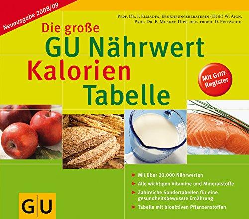 Nährwert-Kalorien-Tabelle Neuausgabe 2008/09, Die große GU
