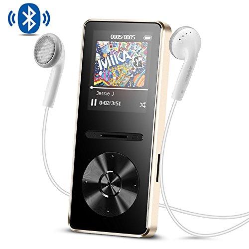 AGPTEK MP3 Bluetooth 4.0 en Métal Lecteur 8Go Baladeur Sport Stéréo Excellent Ecran en Couleur 1,8 Pouces- A29T