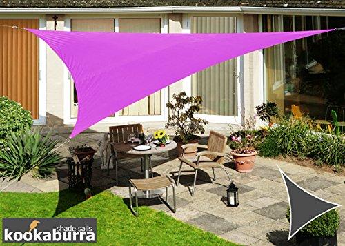 Kookaburra Voile d'Ombrage Imperméable 3,0m Triangle Violet