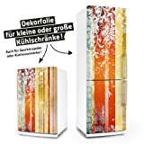 Kühlschrank- & Geschirrspüler-Folie --- Floral Grunge II --- Dekorfolie Aufkleber Klebefolie Front Spülmaschine
