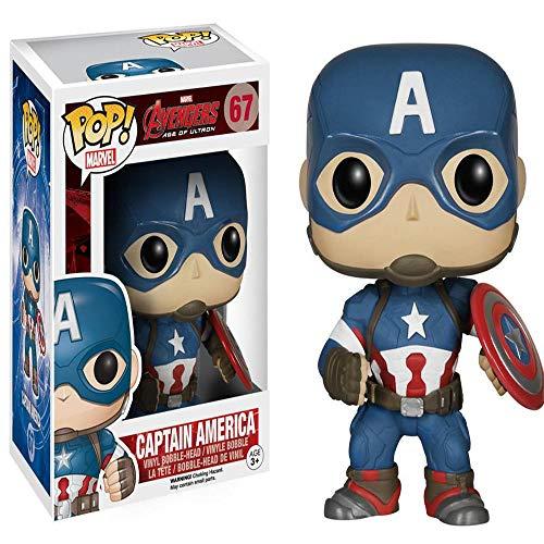 Wild MD Capitán América Avengers Funko Pop Static Q Edition Modelo De Escritorio Decoración Juguetes