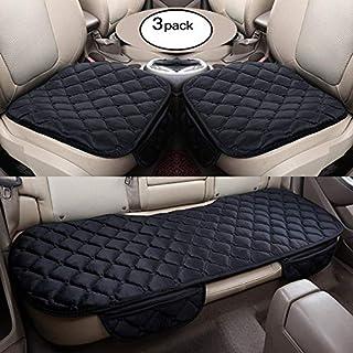 HCMAX Weich Autositzüberzug Kissen Pad Matte Schutz für Autozubehör für Limousine Fließheck SUV - 2 + 1 Vordersitzbezüge und Rücksitzbezüge