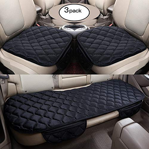 HCMAX Morbido Coprisedile per Auto Cuscino Tampone Stuoia Protettore per Forniture Automatiche per Sedan Hatchback SUV - 2 + 1 Coprisedili Anteriori e Coprisedili Posterio