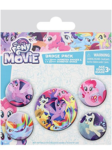 Pyramid International My Little Film Sea Ponys Badge 10 x 12,5 cm, mehrfarbig, 10 x 12,5 x 1,3 cm (Little My Pony-geschenk-tasche)