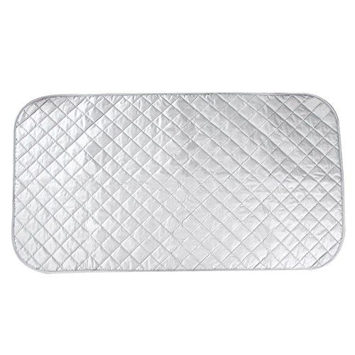 HOGAR AMO Bügeltischauflage Hitzeabweisende Beschichtung Bügelauflage Baumwolle Bügeldecke für den Tisch 48*85cm Dampfbügelgeeignet Silber