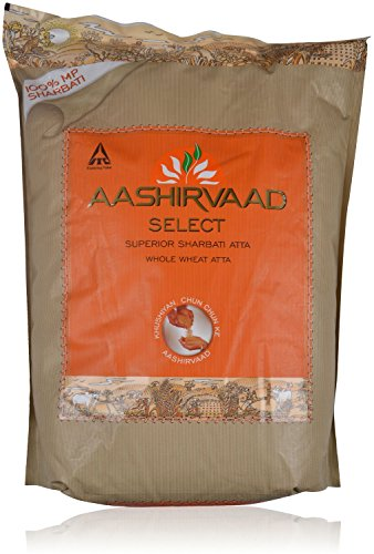 Aashirvaad Select Whole Wheat Atta – Superior Sharbati Atta, 10kg Pack