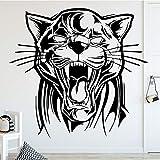 TYLPK Roaring Tiger Wandaufkleber Art Deco Home Decoration Vinyl Wasserdichte Wandaufkleber...