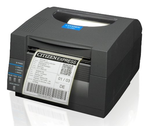 Citizen CL-S521 Thermodirekt Etikettendrucker, 8 Punkte/mm (203dpi), Peeler, ZPL, Datamax, Dual-IF, schwarz (1000815P) Dual Peeler