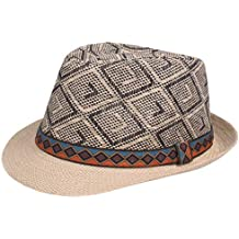 Alessioy Sombrero De Paja De Hombre De para Sombrero Verano con Estilo  único Panamá Retro Sombrero 8f42aaa15cd