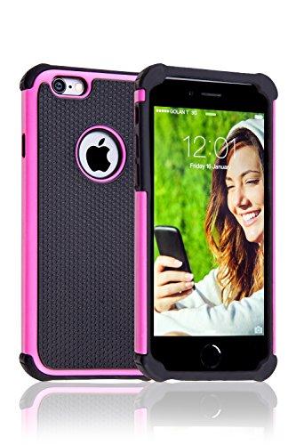iPhone 6 Cover Case Protettiva - Trasparente - Azzurro - SILICONE - TPU - antiurto, Antigraffio - By SWISS-QA (iPhone 6 6S 4.7) Cover - DEFENDER - Rosa