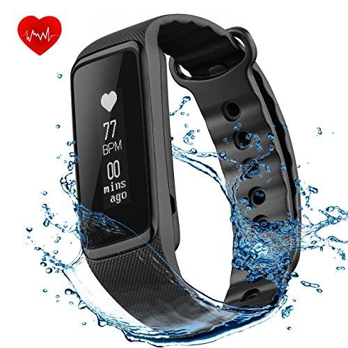 Bracelet Connecté de Sport Cardiofréquencemètre, OMorc Weloop Fitness Tracker Podomètre Bracelet d'Activité Etanche Intelligent Podomètre Santé Smart Band IP68 Waterproof pour iPhone iOS Smartphones A...
