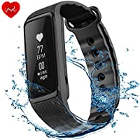 OMORC Fitness Tracker Activity Tracker Cardiofrequenzimetro da Polso Impermeabile Fitness Tracker IP68 Braccialetto Sport Weloop Now2 Bluetooth 4.0 Orologio Fitness Uomo Donna Contapassi Sonno Monitoraggio Calorie Notifiche Chiamate Nero Versione Aggiornata