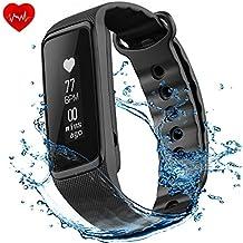 OMORC Activity Tracker Cardiofrequenzimetro da Polso Impermeabile Fitness Tracker IP68 Braccialetto Sport Weloop Now2 Bluetooth 4.0 Orologio Fitness Uomo Donna Contapassi Sonno Monitoraggio Calorie Notifiche Chiamate Nero Versione Aggiornata