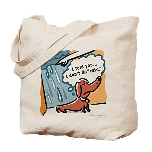 Cafepress–Dachshunds Hate Rain–Borsa di tela naturale, tessuto in iuta small Khaki