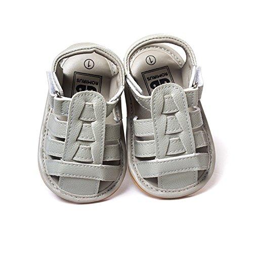 Moresave , {Chaussures premiers pas pour bébé (garçon) Gris