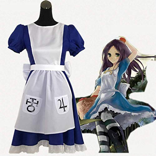 GGOODD Spiel: Alice Madness Returns Cosplay Costume Klassisch Lolita Kostüm Dienstmädchen Tragen Halloween Karneval Party Blau Rock Mit - Klassische Alice Für Erwachsene Kostüm