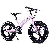 AI-QX Vélo Enfant pour Garcons et Filles de 5-7 Ans  Bicyclette Enfant 16-20 Pouces Cruiser avec Freins ,Pink,16''