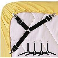 Verstellbare Bettecken-Halterung Matratzen-Bezug JTShop Spannbettlaken Clips 4 St/ück halten Sie Ihr Laken an Ort und Stelle und ordentlich. Wei/ß elastische Gurte Bett-Strapse