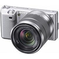 Sony NEX-5KS Systemkamera (14 Megapixel, 7,5 cm (3 Zoll Display), Live View, Full HD Videoaufnahme) Kit silber inkl. 18-55mm Objektiv