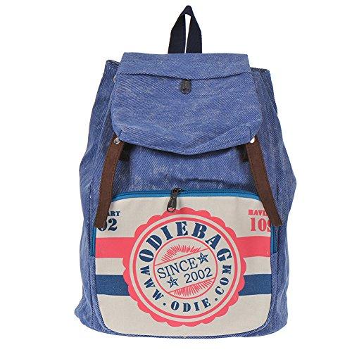 Filles Garçons adolescents Bleu Toile sac de randonnée de sac d'école Sac à dos
