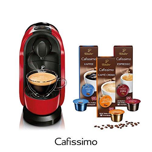 Tchibo Cafissimo Pure Kaffee Kapselmaschine inkl. 30 Kapseln, Red
