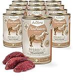 AniForte Hundefutter Pferd Pur 12 x 400g für Hunde, Nassfutter ohne...