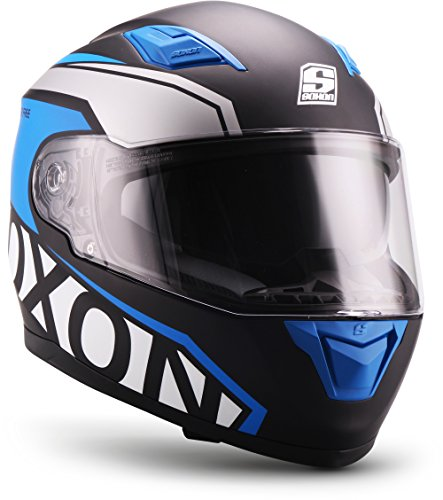 SOXON St de 1000 Race Black (Negro) Integral de casco de scooter de...