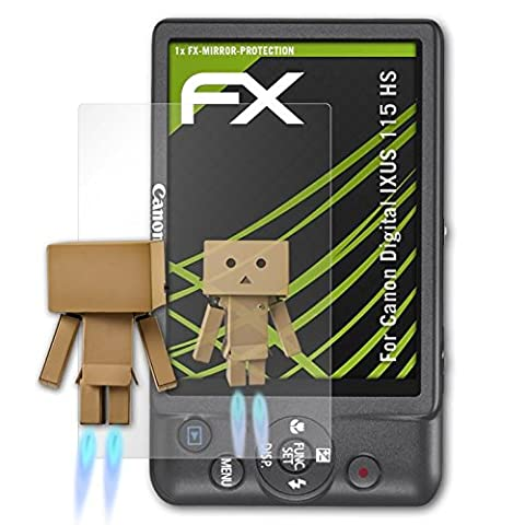 Canon Digital IXUS 115 HS / PowerShot ELPH 100 HS Spiegelfolie - atFoliX FX-Mirror Displayschutz Folie mit Spiegeleffekt