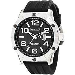 Lancaster Men's Watch with Silicone Band and Date 10 ATM OLA0478NR