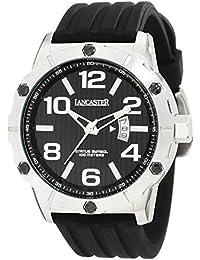 Lancaster Reloj de hombre con banda de silicona Fecha 10 bar ola0478nr
