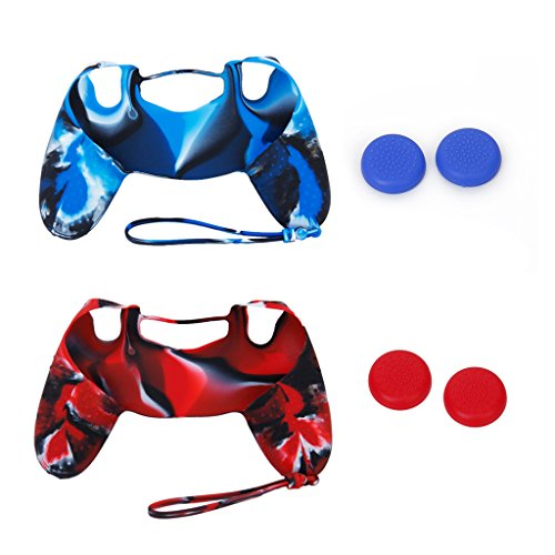 generic-2-x-silicone-case-cover-2-pairs-of-replacement-joystick-thumbstick-caps-for-playstation-4-ps