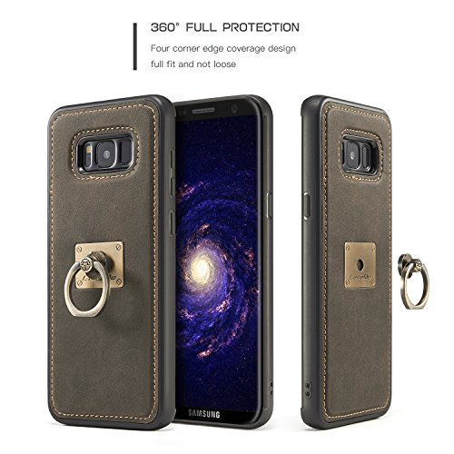 SDDMALL CaseMe Case avec 360 Rotating Finger Ring Stand Design et Magnetic Back Cover pour Samsung Galaxy S8 ( Color : Red ) Coffe