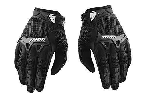 Bikestuff-B-GL20M-Full-Fingered-Motorcycle-Riding-Gloves-BlackLarge