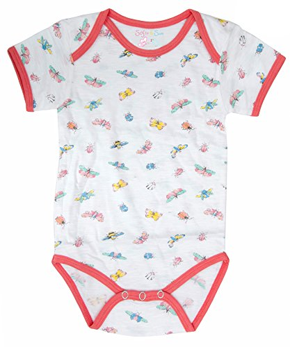 Sofie & Sam London, Baby Bodysuit Romper Onesie made from Organic Cotton, Bee Multicolour