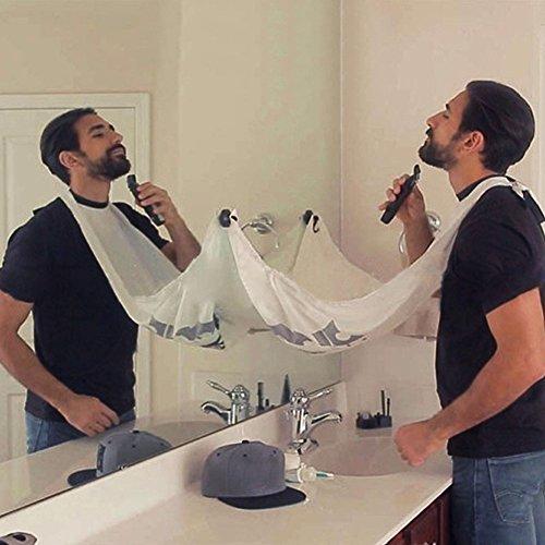Grembiule da barba–Mantellina da barba da uomo, alla moda, accessorio da bagno creativo, idea regalo per papà, fidanzato e fratello - 6