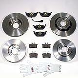 Autoparts-Online Set 60002174 Bremsscheiben 1LS/Bremsen + Bremsbeläge Vorne + Hinten