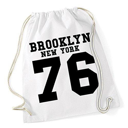 Brooklyn New York Borsa De Gym Bianco Certified Freak