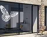 Fenster Aufkleber No. UL509Schmetterling–Glas Fenster Film selbstklebend | Milchglas Glas Film 5Farben Fenster Film Folie Sichtschutz Milchglas Badezimmer Farbe: Frosted, Maße: 60cm x 50cm