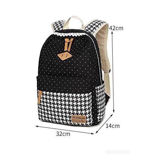 YUEER Canvas Schultertasche Studenten Druck Adrett Lässig Computer-Taschen Business Reisen Computer Schultaschen E