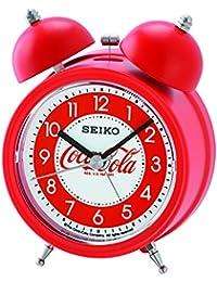Seiko Coca-Cola Bell - Reloj Despertador, plástico, Rojo, 13.5 x 9.5 x 6 cm