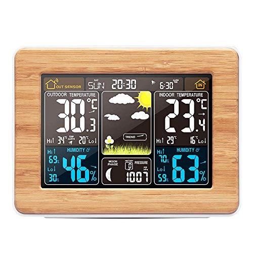 ABEDOE Estación Meteorológica Inalámbrica Reloj Digital Pronóstico del Tiempo con Pantalla a Color...