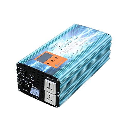 Onduleur 3000w Convertisseur Onde Pur Convertisseur 12v vers AC 220V+LCD+Chargeur 50Amp