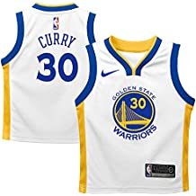 Nike NBA Golden State Warriors Stephen Curry SC30 2017 2018 Icon Edition Jersey Oficial Away, Camiseta de Niño