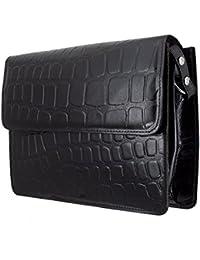 Trendy Guys Genuine Leather Cross Body Shoulder Sling Bag Messenger Bag For Women