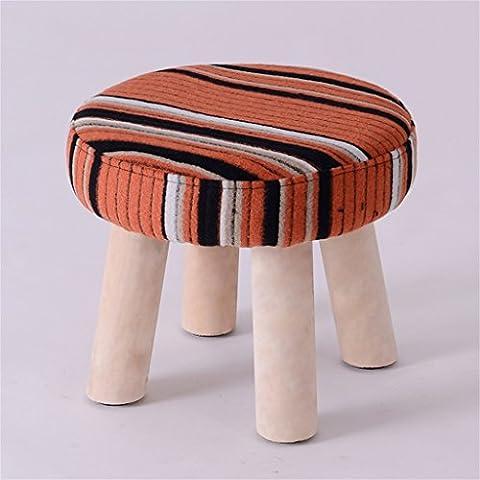 Tabouret en bois massif pour changement de chaussures Tabouret en bois pour tabourets d'essai Poufs ronds rembourrés ( couleur : # 24 )