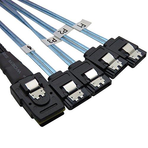 Sas-sata-festplatte (YIWENTEC Mini SAS 36p SFF-8087 zu 4 SATA Target Festplatte Connector Daten kabel 0.75m)
