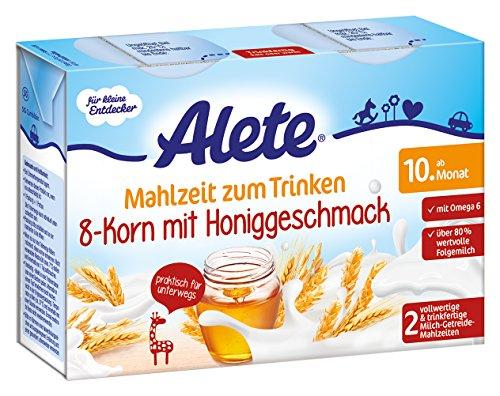 Alete Mahlzeit zum Trinken 8-Korn mit Honiggeschmack, 6er Pack (6 x 400 ml)