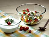 #9: Borosil Glass Mixing Bowl with Lid Set, 500ml, Set of 2