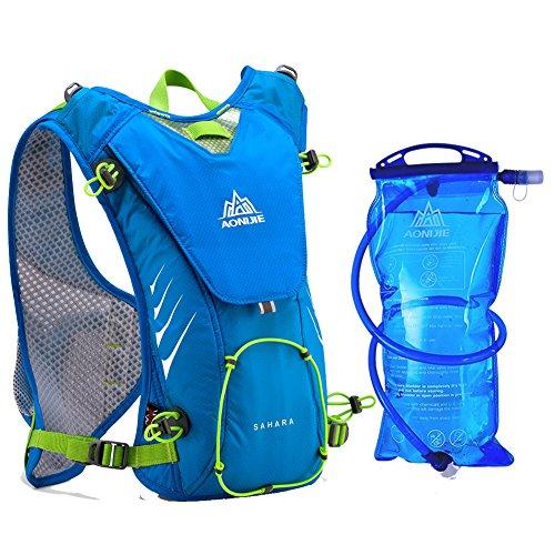 Imagen de aonijie– de hidratación con 2l vejiga bolsa ligero bolsa para bicicleta/senderismo escalada, azul
